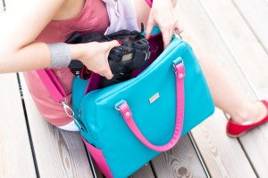 Camera Bag Classic Turquoise&Pink